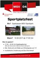 Sportplatzfest am 16. Juni 2017